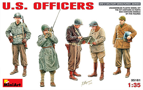 us-officers-model-kit-miniart-35161