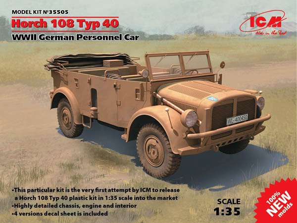 MODEL KIT No 35505 - 1:35 Horch 108 Typ 40, WWII German Personnel Car