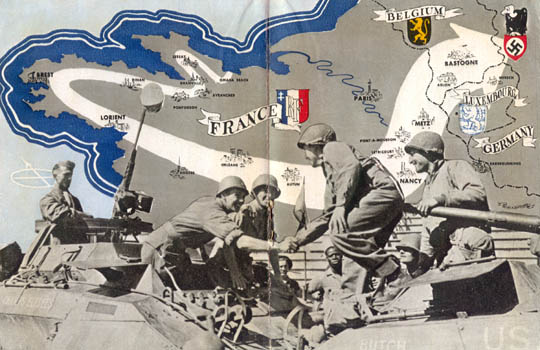 Brest To Bastogne The Story Of The Th Armored Division WWII - Us armor unit map