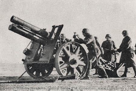 Image result for German 15cm SFH 13 field howitzer in ww2