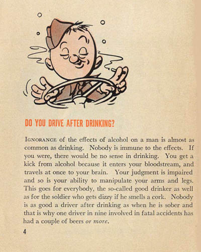 [Pvt. Droop Has Missed the War! Do You Drive After Drinking?]