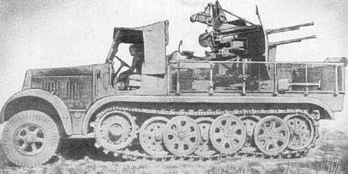 m. Zgkw. 8t Sd. Kfz. 7 (2 cm Flakvierling 38): A.A./A.T. Gun on Semitrack Chassis