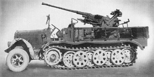 m. Zgkw. 8t Sd. Kfz. 7 (3.7 cm Flak 36): Antiaircraft Gun on Semitrack Chassis