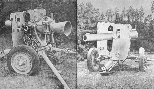 German 10.5 cm L.G. 42 and 42/1: Recoilless Gun