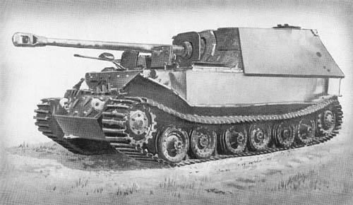 Pz. Jäg. Tiger (P), Elefant, für 8.8 cm Pak 43/2 (Sd. Kfz. 184)