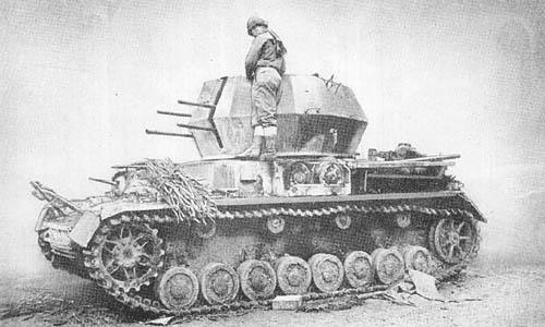 Pz. Kpfw. IV für 2 cm Flakvierling 38: Antiaircraft Gun on Medium Tank Chassis