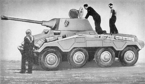 s. Pz. Sp. Wg. (5 cm) Sd. Kfz. 234/2 Puma: German 8-Wheeled Armored Cars