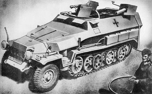 m. Flammpanzerwagen (Sd. Kfz. 251/16): Armored Flamethrower Vehicle