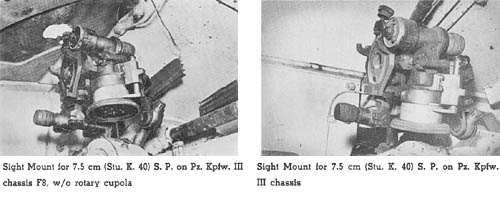 Sight Mounts for Self-Propelled Artillery: On-Carriage Fire Control