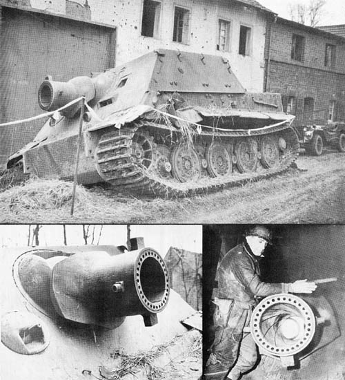 Sturmmörser: 38 cm Rocket Projector on Tiger E Chassis