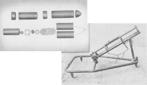 7.3 cm Propaganda Rocket Projectile and Launcher