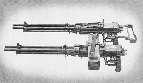 Double Barrel Flexible Aircraft Machine Guns Model 100 and Model 1