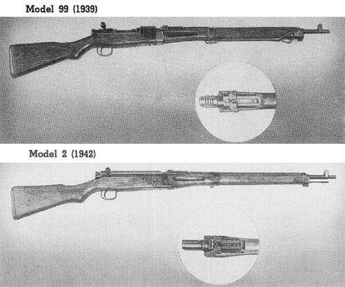 Japanese 7.7 mm Paratrooper Rifles