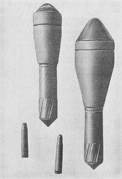 Gross Panzergranate 61 and 46: H.E.A.T. (Hollow Charge) Rifle Grenade