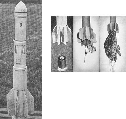 15.2 cm Parachute and Cable Type Antiaircraft Rocket