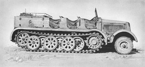 s. Zgkw. 12 t (Sd. Kfz. 8): Heavy Semitrack Prime Mover