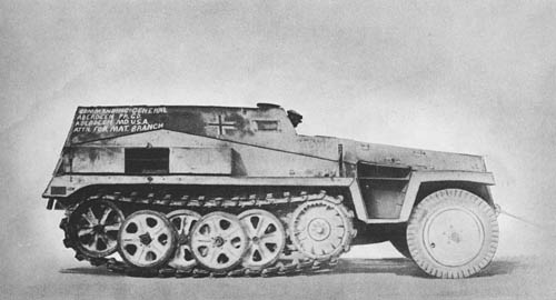 l. gp. Mannsch. Kw. (Sd. Kfz. 250): Light Armored Personnel Carrier