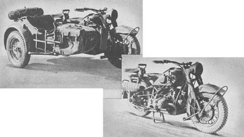 WW2 Motorcycle - s. Krad, Heavy Motorcycle with Sidecar