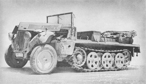 l. Zgkw. 1t (Sd. Kfz. 10): Light Semitrack Prime Mover
