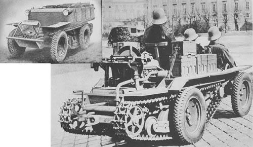Motor-Karrete (Austro-Daimler) ADMK: Wheeled/Tracked Reconnaissance Vehicle