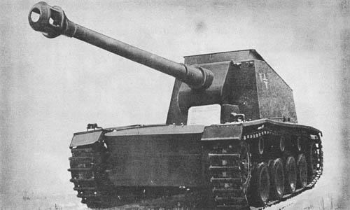 """Pz. Jäg. """"Tiger"""" für 12.8 cm Pak 44 (Sd. Kfz. 186): S.P. Gun"""