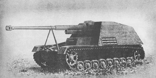 "Pz. Jäg. III/IV (""Nashorn"") für 8.8 cm Pak 43/1 (Sf) (Sd. Kfz. 164): S.P. Antitank Gun—""Rhinoceros"" (formerly ""Hornet"")"