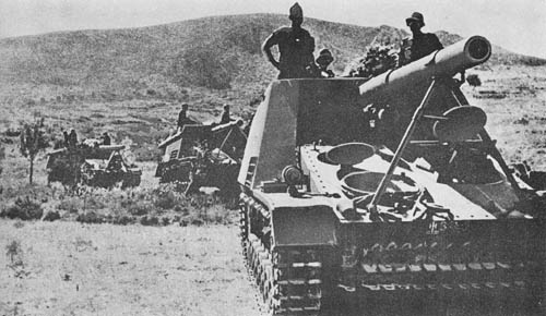 """Gw. III/IV (Hummel) für 15 cm s.F.H. 18/1 (Sd. Kfz. 165): S.P. Heavy Field Howitzer """"Bumblebee"""""""