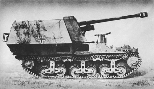 Marder I: Pz. Jäg. Lr. S. für 7.5 cm Pak 40/1 (Sd. Kfz. 135): S.P. Antitank Gun (on French Chassis)