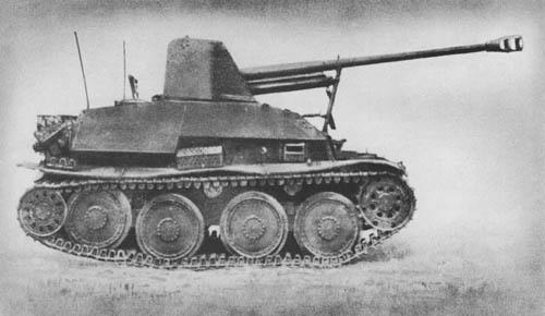 Pz. Jäg. 38 für 7.62 cm Pak 36 (r) (Sd. Kfz. 139): S.P. Antitank Gun (on Czech Chassis): Marder III Panzerjäger