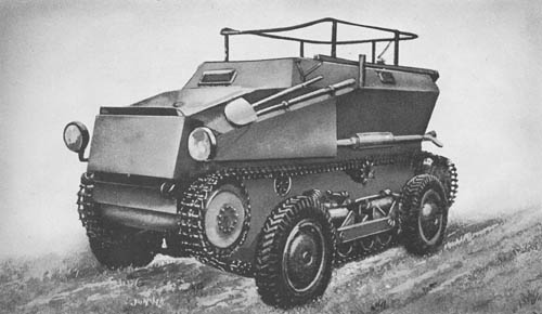 Saurer m. gp. Beob. Kw. (Sd. Kfz. 254): 4-Wheeled / Tracked Armored Observation Vehicle