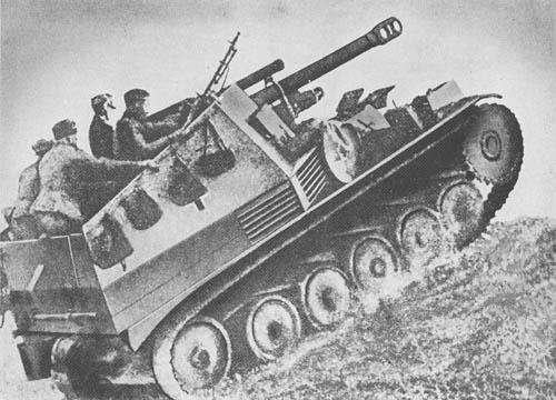 Gw. II (Wespe) für 10.5 cm le. F. H. 18/2 (Sd. Kfz. 124): S.P. Light Howitzer (Wasp)