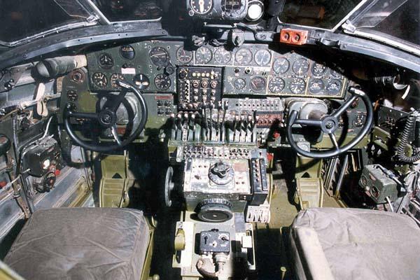 B-24 Liberator Cockpit  B24 Cockpit