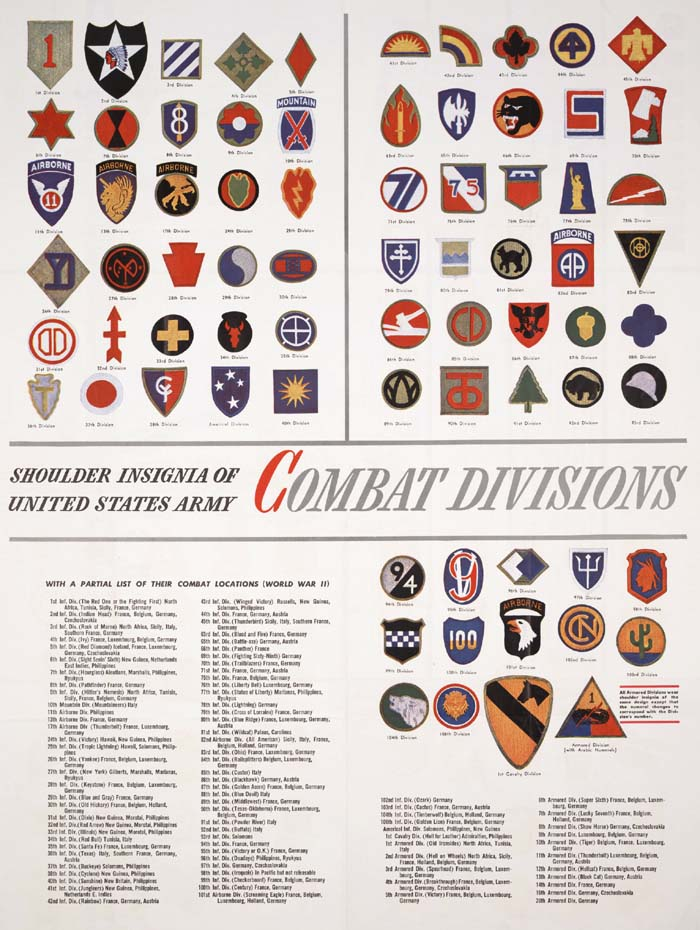 Index of directory shoulder insignia of u s army combat divisions