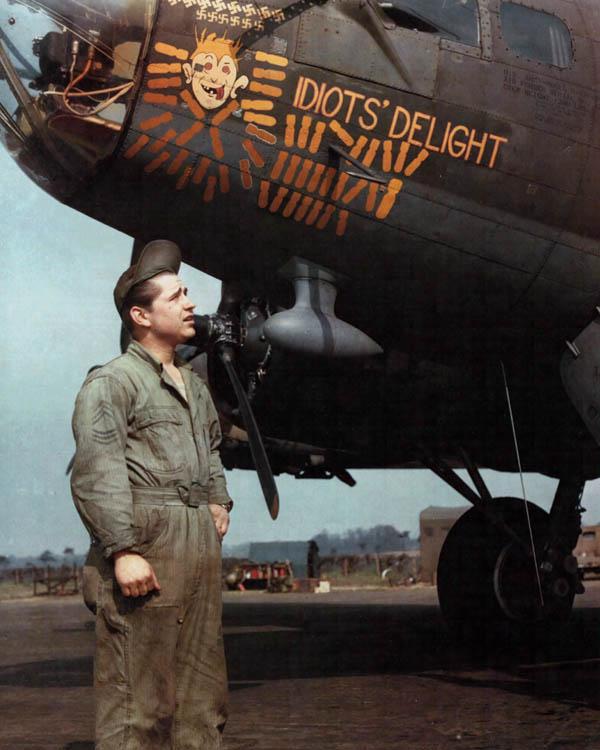 B-17 Bomber Color Nose Art  B17 Bomber Nose Art