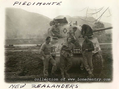 New Zealand M4 Sherman Tank and Crew - WW2