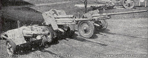 German 50 Mm Anti Tank Gun: German Antitank Weapons, WWII U.S. Intelligence Bulletin