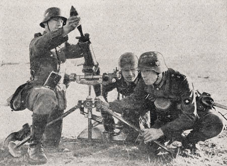 8-cm Heavy Mortar, Model 34: German Infantry Weapons, WWII Military