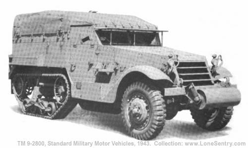 Car, Half-Track, M2   TM 9-2800: Standard Military Motor